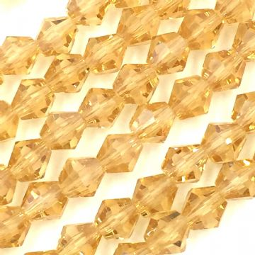 6mm Crystal bicone glass bead - 50 pieces - Citrine 8434